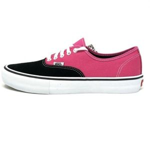 vans authentic pro black magenta shoes